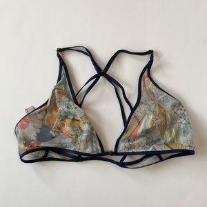 Victoria's Secret shear printed bra